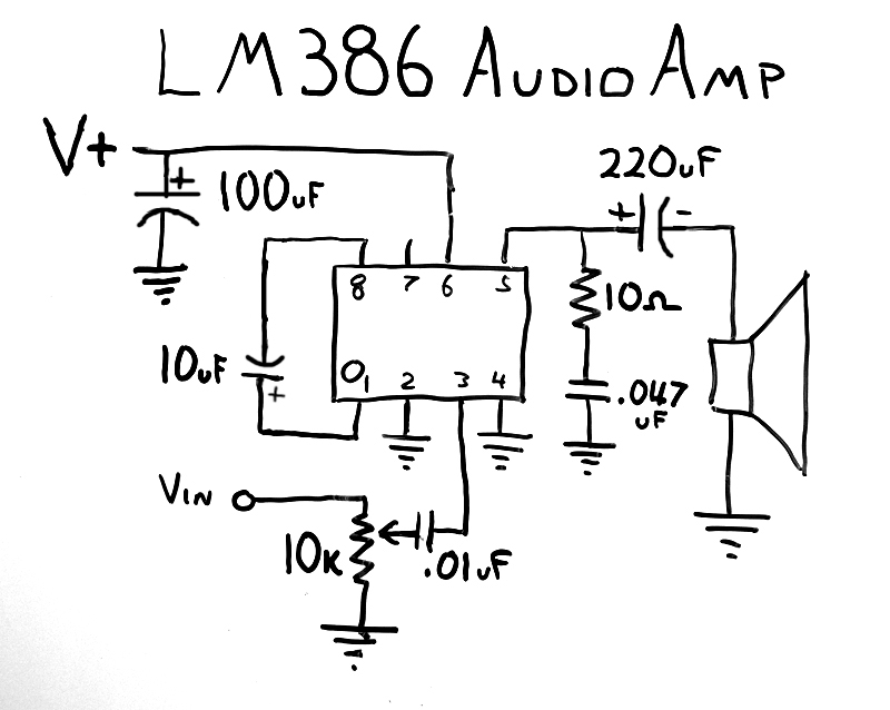 lm386ampschematic