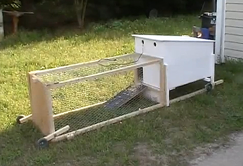 how to build a chicken coop tractor