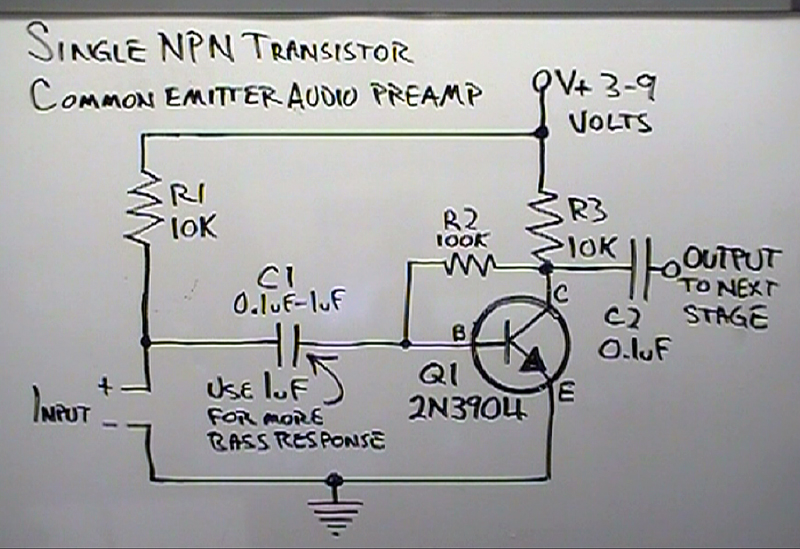 Transistor Radio Circuit Diagram on lm386 mic