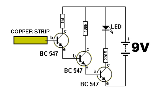 three transistor voltage detector u2026
