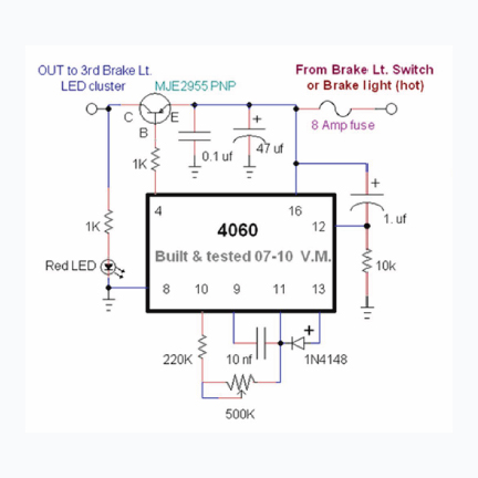 on led circuit diagram