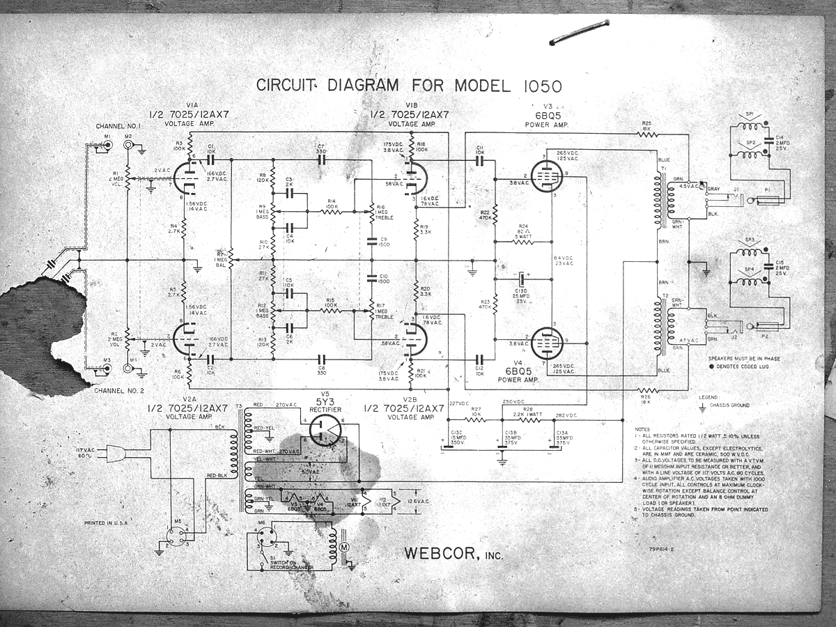 webcor amp schematic 1