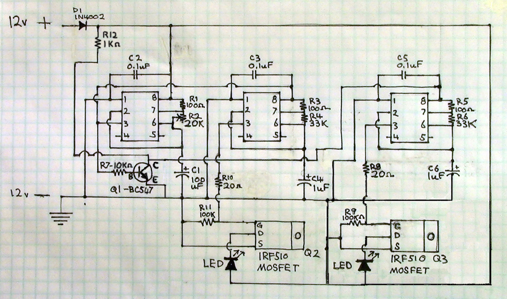 555 dual flasher schematic