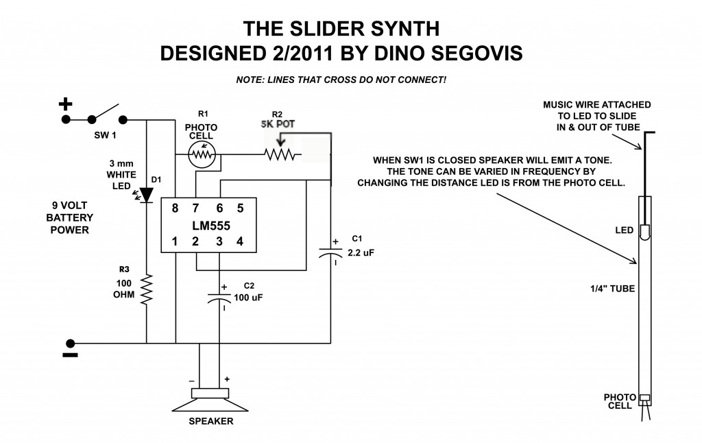 slidersynth II schematic