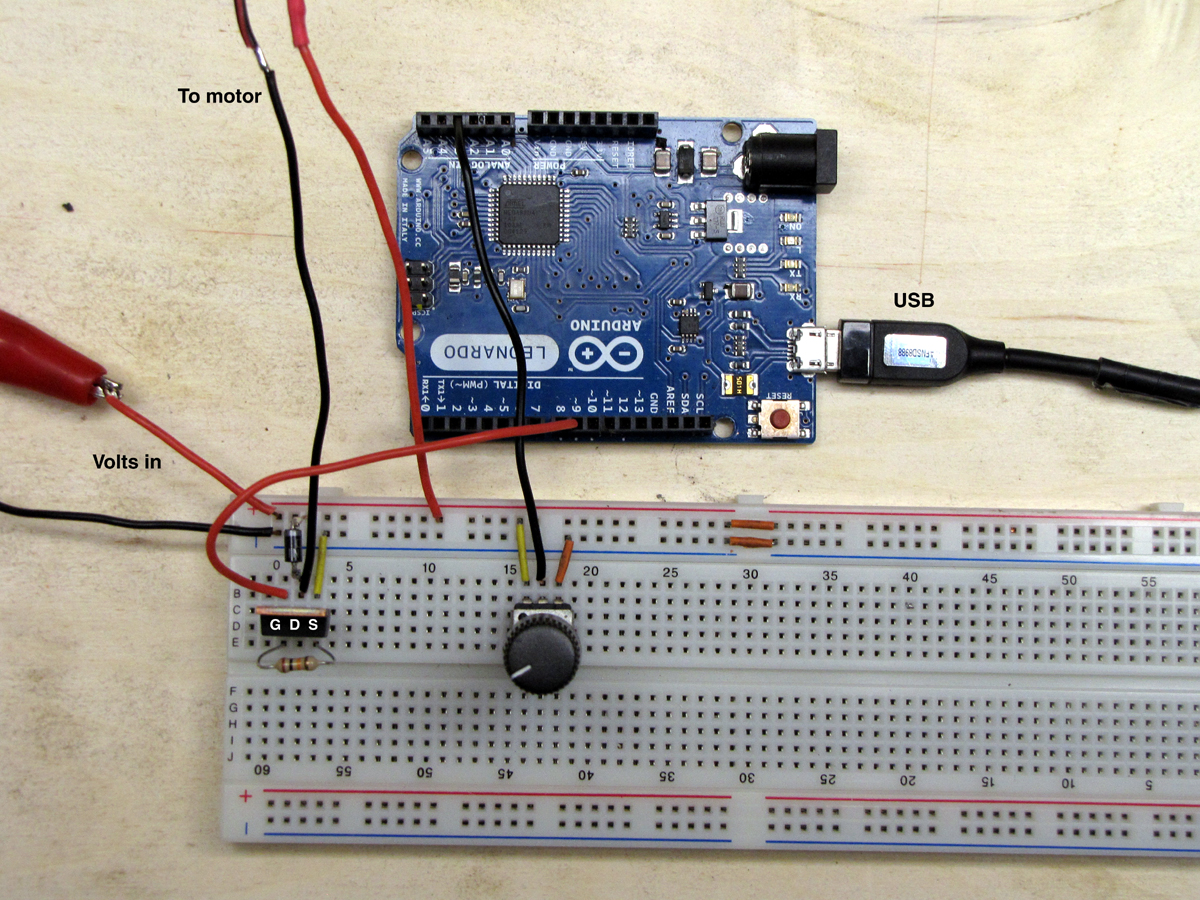pwm breadboard actual  layout