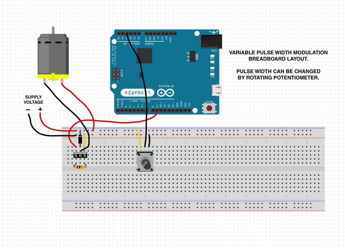 all about pulse width modulation hack a week pwm breadboard layout